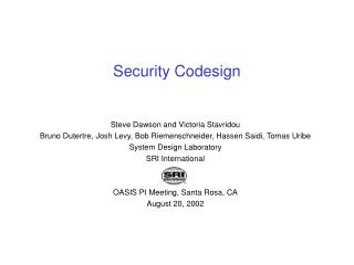 Security Codesign
