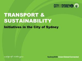 TRANSPORT & SUSTAINABILITY