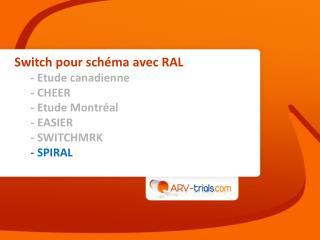 Switch pour schéma avec RAL - Etude canadienne - CHEER - Etude Montréal - EASIER - SWITCHMRK