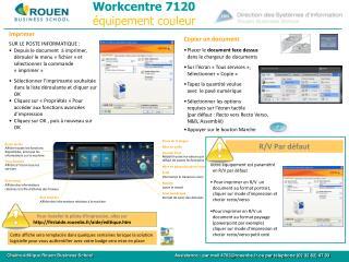 Workcentre 7120 équipement couleur