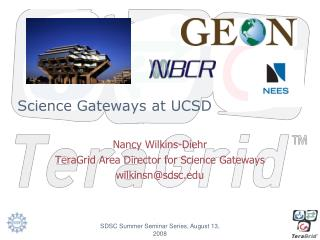 Science Gateways at UCSD