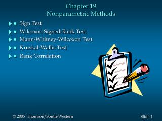 Chapter 19 Nonparametric Methods