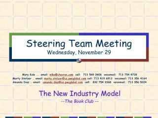 Steering Team Meeting Wednesday, November 29