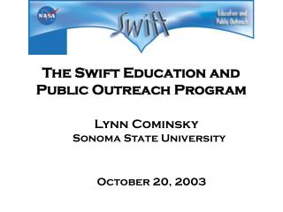 The Swift Education and Public Outreach Program