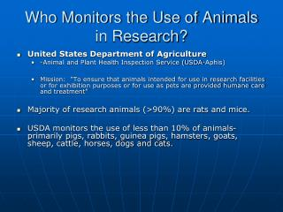 Who Monitors the Use of Animals in Research