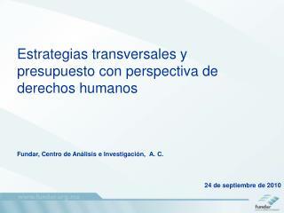 Estrategias transversales y presupuesto con perspectiva de derechos humanos