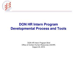 DON HR Intern Program Developmental Process and Tools