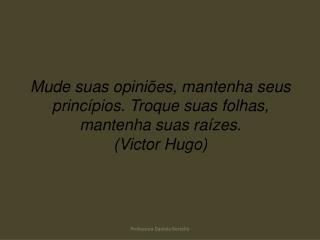 Mude suas opini es, mantenha seus princ pios. Troque suas folhas, mantenha suas ra zes. Victor Hugo
