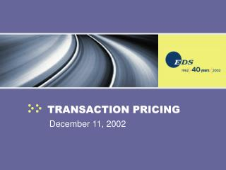 TRANSACTION PRICING