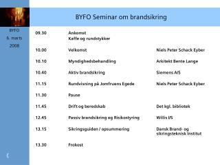 BYFO Seminar om brandsikring