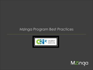 Mzinga  Program Best Practices