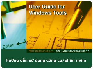 User Guide for Windows Tools