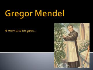 Gregor Mendel  A man and his peas