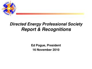 Directed Energy Professional Society Report  Recognitions