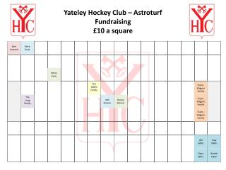Yateley  Hockey Club – Astroturf Fundraising £10 a square