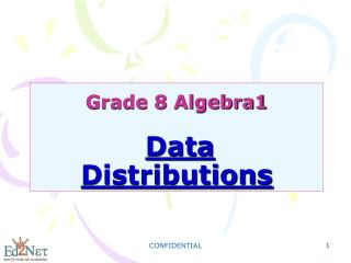 Grade 8 Algebra1 Data Distributions
