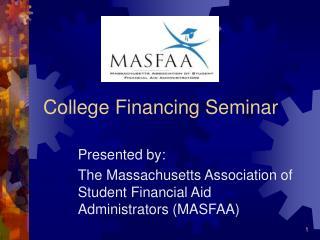 College Financing Seminar