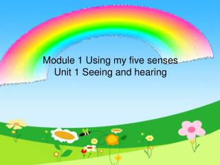 Module 1 Using my five senses Unit 1 Seeing and hearing