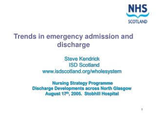 Trends in emergency admission and discharge