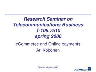 eCommerce and Online payments Ari Koponen