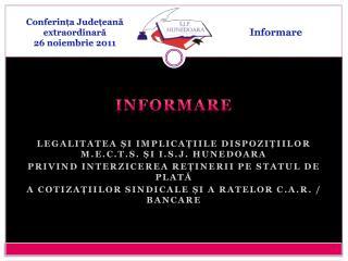 Conferința Județeană extraordinară 26 noiembrie 2011