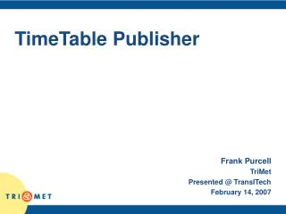 TimeTable Publisher