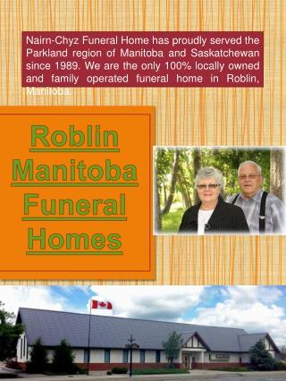 Roblin Manitoba Funeral Home