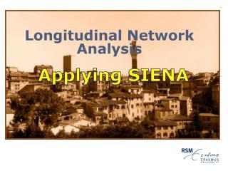 Longitudinal Network Analysis