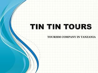 Tourism Company in Tanzania - Tin Tin Tours
