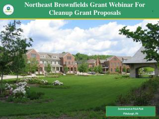 Northeast Brownfields Grant Webinar For Cleanup Grant Proposals