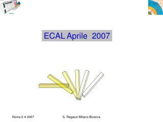ECAL Aprile  2007