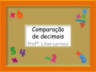 Comparação  de decimais