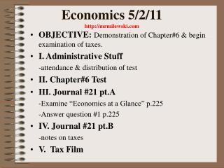 Economics 5/2/11  mrmilewski