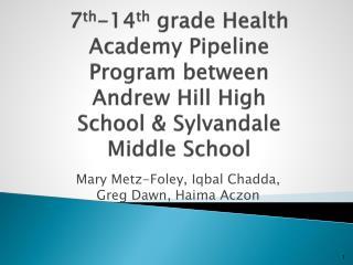 Mary Metz-Foley, Iqbal Chadda, Greg Dawn, Haima Aczon