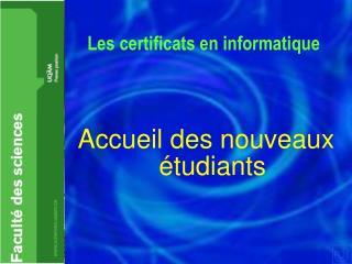 Les certificats en informatique