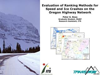 Evaluation of Ranking Methods for Speed and Ice Crashes on the Oregon Highway Network
