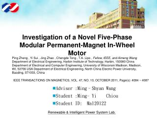 Investigation of a Novel Five-Phase Modular Permanent-Magnet In-Wheel Motor