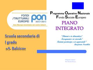 PIANO INTEGRATO