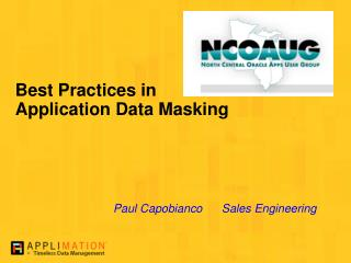 Best Practices in Application Data Masking
