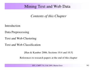 Mining Text and Web Data