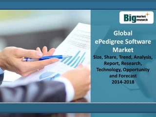 Global ePedigree Software Market 2014 - 2018