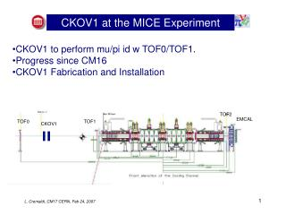 CKOV1 at the MICE Experiment