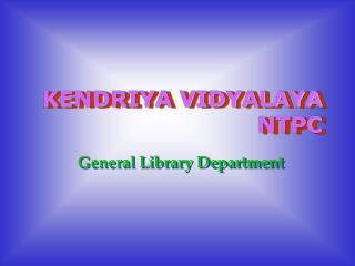 KENDRIYA VIDYALAYA NTPC