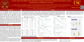 Cancer Stem Cell SNPs Have Opposite Prognostic Outcome in Patients with Gastric Cancer