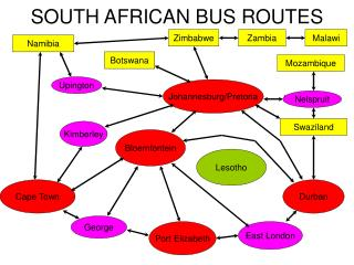 SOUTH AFRICAN BUS ROUTES
