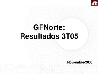 GFNorte: Resultados 3T05