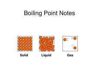 Boiling Point Notes