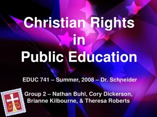 Christian Rights  in  Public Education