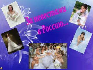 За невестами     в Россию...