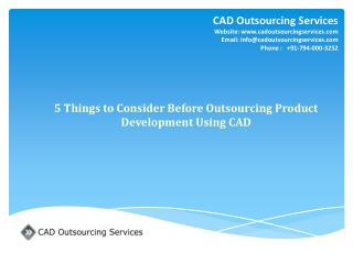 5 Things to Consider Before Outsourcing Product Development